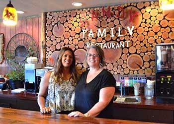 Sandy Family Restaurants Owner Ria and Manager Dana Richardson