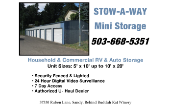 Stow-A-Way Storage - Sandy Oregon