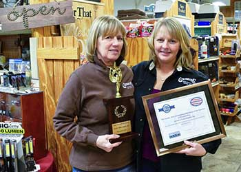 Roz and Kathy at Gerens Farm Supply